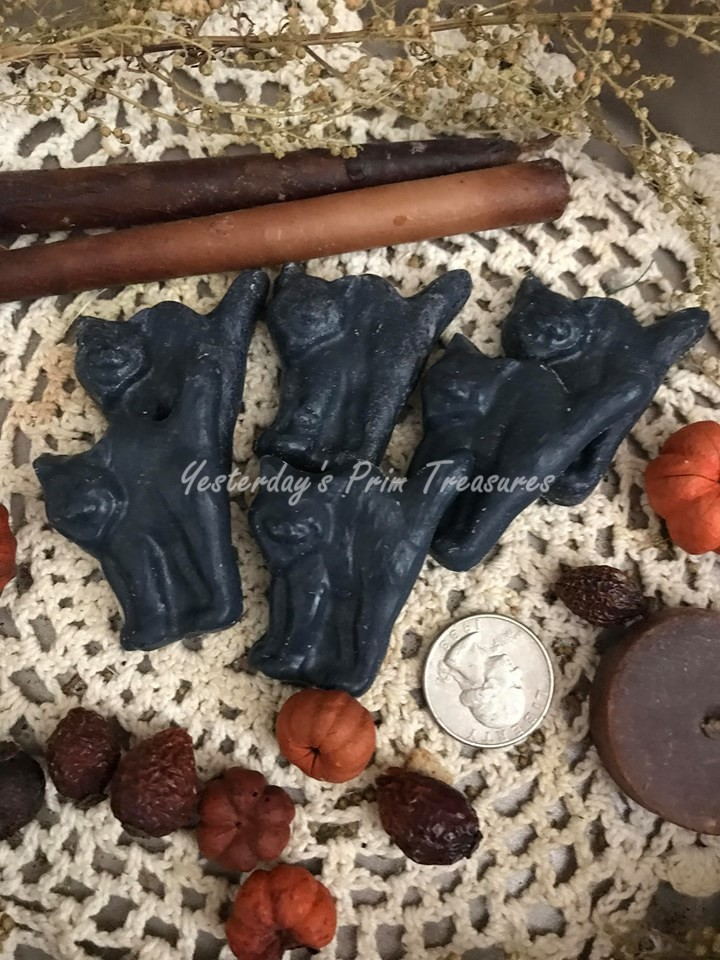 Primitive Handmade Pumpkin Spice* Scented Tarts* Bats* Bowl Fillers* Halloween