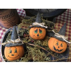 Primitive Hand-crafted Pumpkin/Jack O'Lantern Bowlfillers *Halloween*