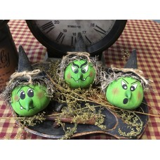 Primitive Hand-crafted Wicked Witch Bowlfillers Ornies Shelf Sitter Halloween *Halloween*