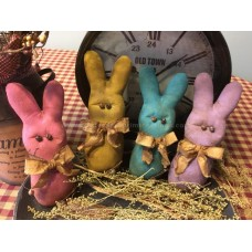 Primitive Hand-crafted Grubby Pastel Bunnies Bowl Fillers* Ornies* Easter