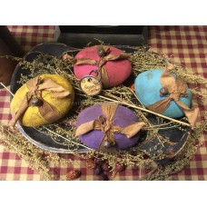 Primitive Hand-crafted Grubby Pastel Eggs Bowl Fillers Ornies* Easter