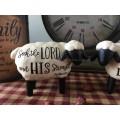 Primitive Scripture Resin Sheep - Blossom Bucket