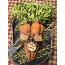 Primitive Hand-crafted Grubby Bunny *Carrots* Bowl Fillers Ornies  *Easter*