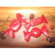 Primitive Hand-made Christmas Candy Tarts/Embeds - Cinnamon Scent