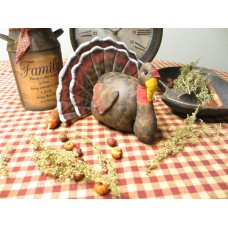 Primitive* Hand-crafted* Thanksgiving* Turkey* Shelf-sitter** Ornies* Farmhouse