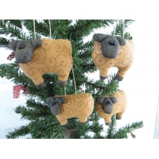 Primitive Handcrafted Sheep Ornies