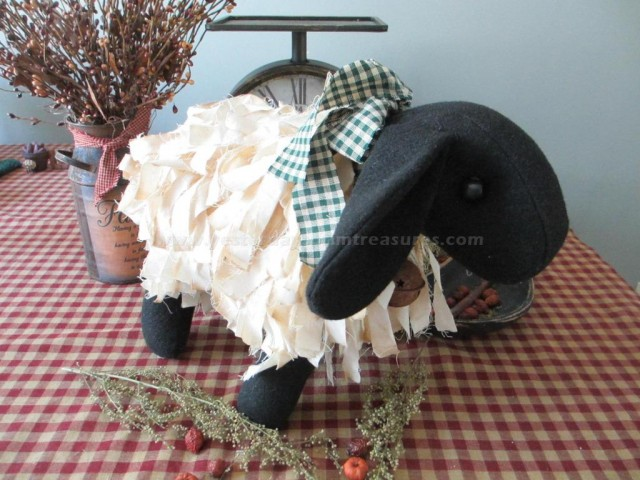 Primitive Handcrafted Grubby Sheep